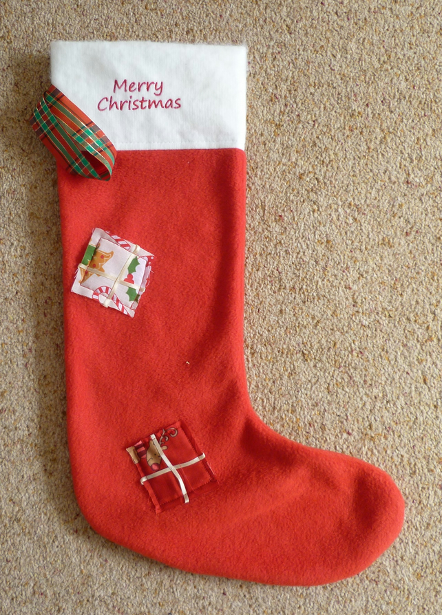 Christmas 'Patched' Personalised Stockings