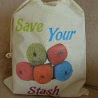 Storage Sacks for Craft, Knitting, Sewing, Crochet Projects