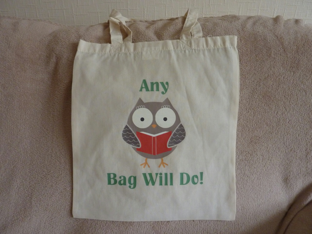 Tote - Shopping - Gift Bag  made from 100% cotton & Decorated