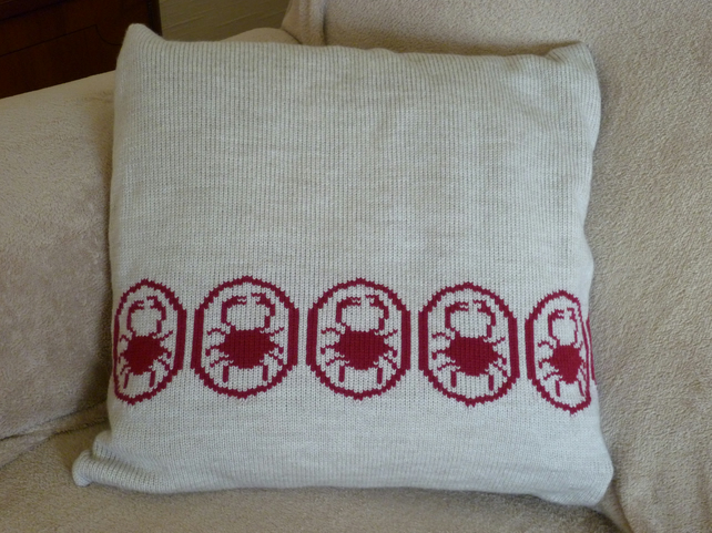 Machine Knitted Cushion Covers - Trees - Flowers - Animals - Fish - Golfer