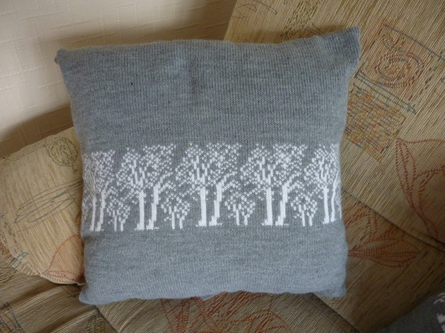 Machine Knitted Cushion Covers - Trees - Flowers - Animals - Fish - People
