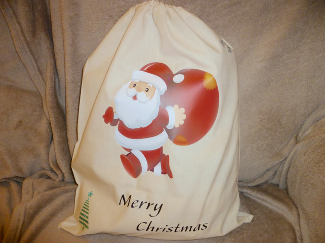 Santa Sack, Bag, Christmas, Storage for Craft, Knitting, Sewing, Shoes, Projects