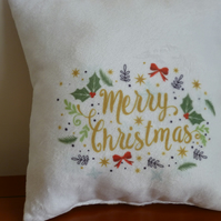Christmas Verse, Phrase Cushions, Pillows. Reindeer, Santa, Elves and Helpers