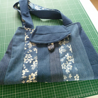 Handmade Patchwork Bags for Gifts or Shopping. Reusable, Green