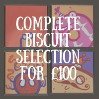 Biscuit Selection - original art - acrylic on deep edge canvas