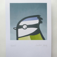 A4 British Bird Print - Bluetit