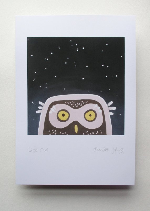 A4 British Bird Print -  Little Owl