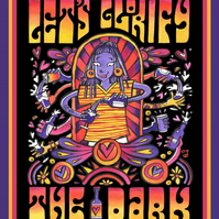 A3 Psychedelic Dark Beer Poster Print