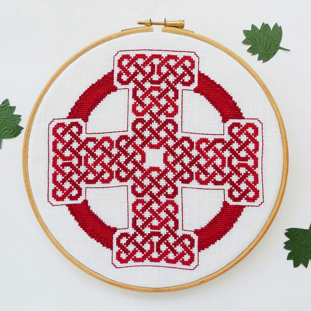 Celtic cross stitch pattern - Celtic cross - Celtic cross stitch PDF