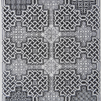 Celtic Blackwork embroidery pattern - blackwork pattern - blackwork PDF