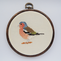 Cross stitch bird pattern - Chaffinch - PDF printable - cross stitch chart PDF