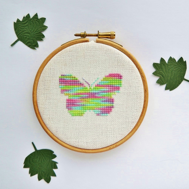 Small Butterfly cross stitch pattern - small cross stitch pattern