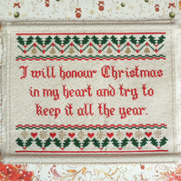 Christmas cross stitch, Scrooge from A Christmas Carol by Dickens, PDF file