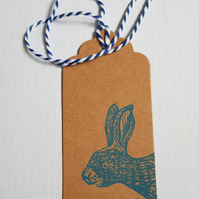 Little Hare handprinted gift tags - pack of 5