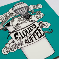 Clouds in my Coffee - Drinks Coaster; Gift for Coffee Lover