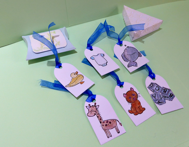 Quality Hand Made Baby Boy Tags