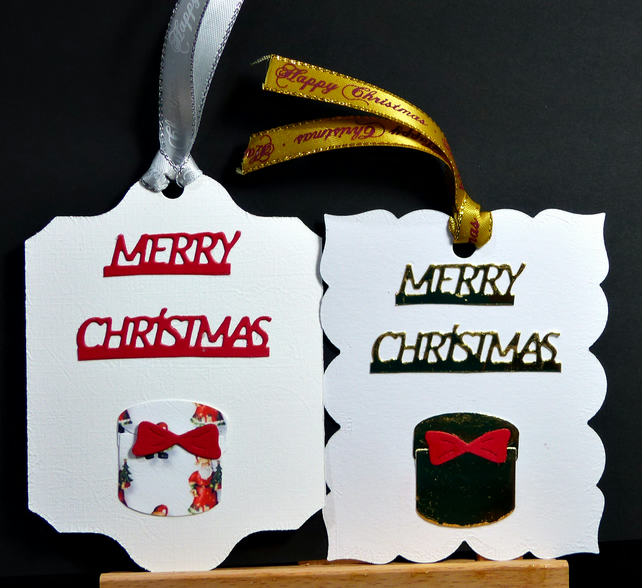 Set of 6 Christmas Tags