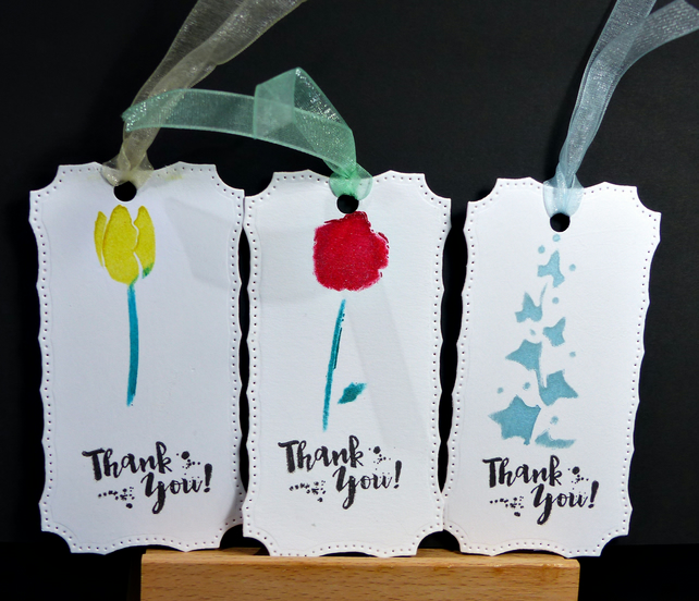 Set of 6 Thank You Tags