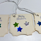 Set of 6 handmade Ivory Christmas Gift Tags