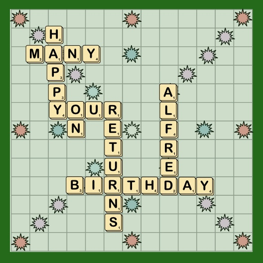 Personalised Scrabble Style Birthday Card Folksy