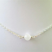 Natural selenite gemstone crystal necklace