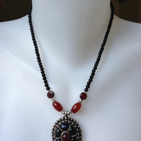 Garnet necklace Pendant Necklace