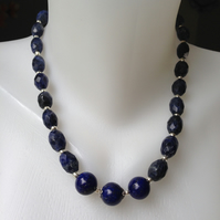 Lapis Necklace Statement necklace Blue necklace