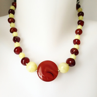 Carnelian jade necklace