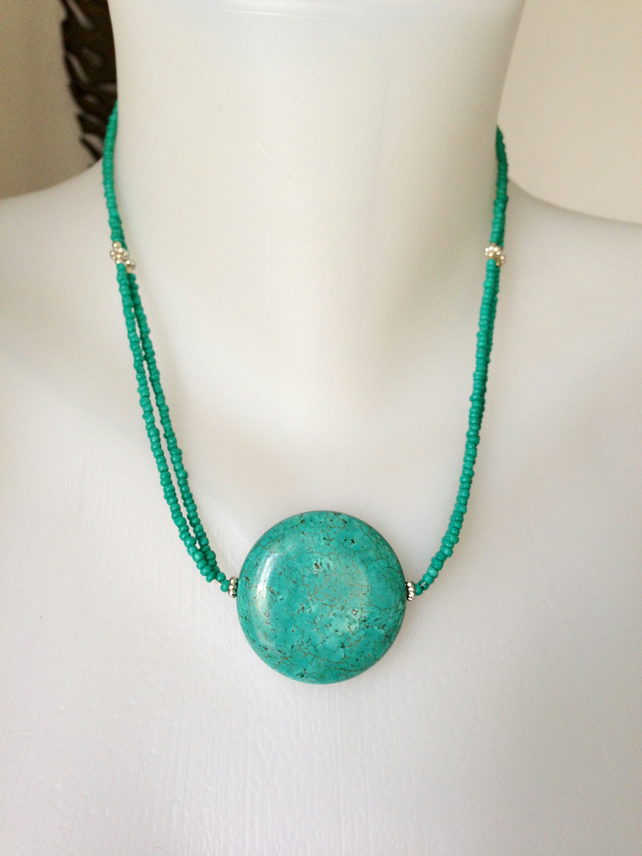 Coin Turquoise Necklace