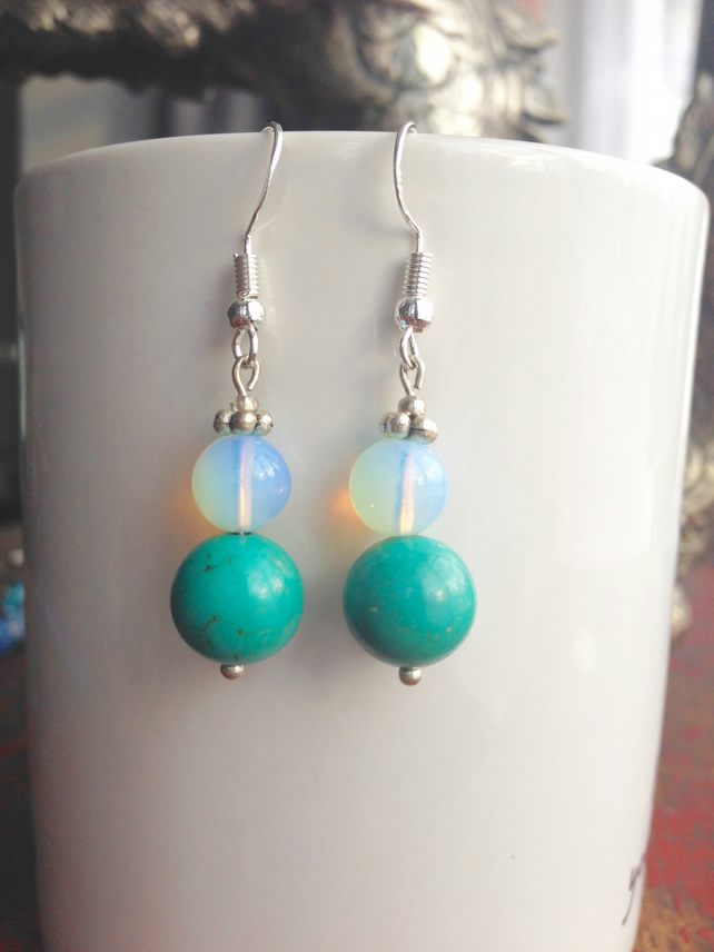 Turquoise Opal earrings