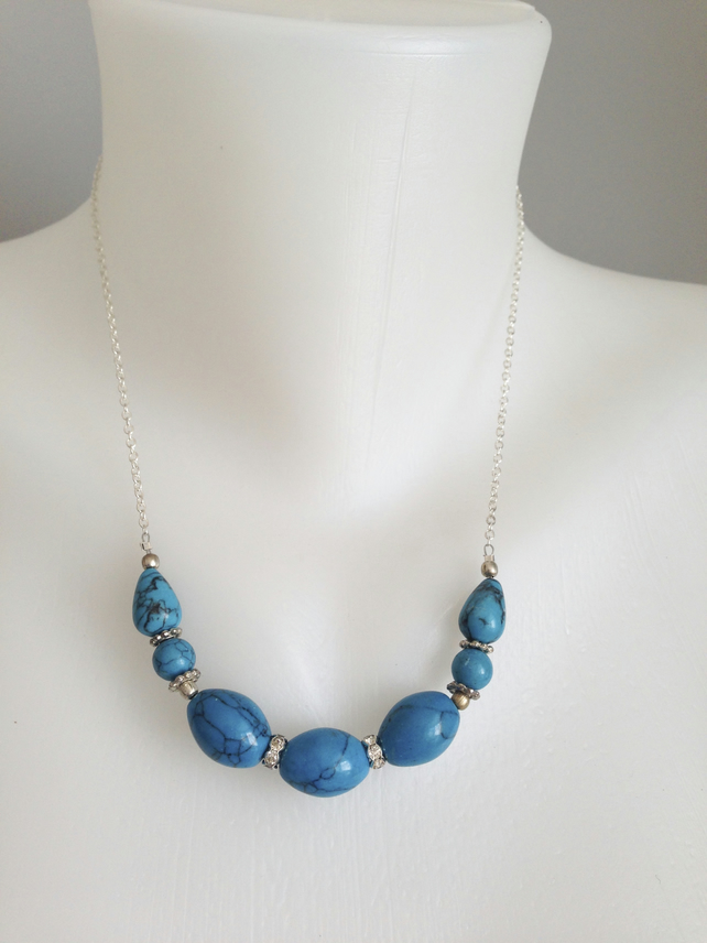 Blue Illite necklace
