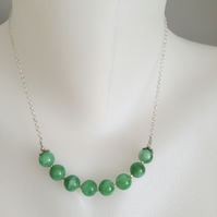 Jade chain necklace