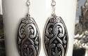 Silver/Lucite silver earrings