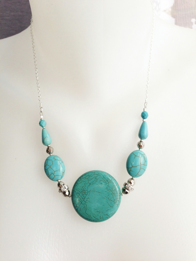 Coin Turquoise Necklacelace