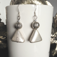Lucite silver earrings