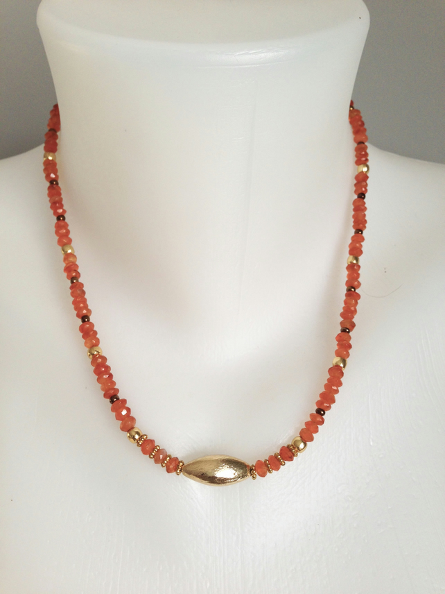Carnelian Necklace  Gemstone `necklace