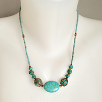 Tibetan Necklace Turquoise Necklace Bras necklace
