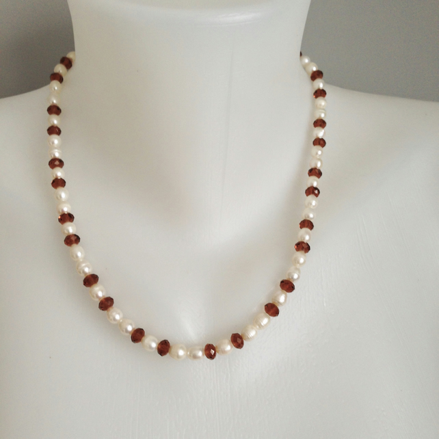 Pearl necklace   Freshwater perl Necklace