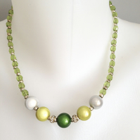 Green necklace   Shades of green necklace