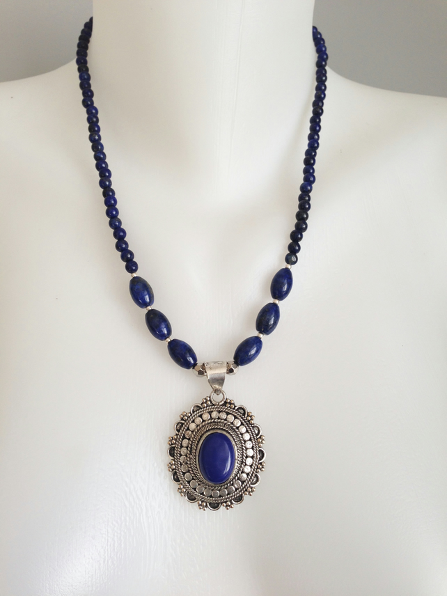 Lapis Necklace Pendant necklace