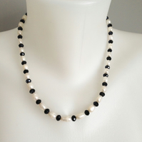 Freshwater ringed pearl necklace  Mix pearl necklace