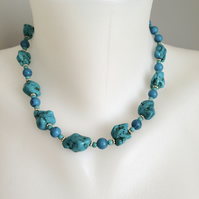Turquoise  Necklace Blue necklace
