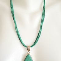 Turquoise Pendant  Necklace  Layered necklace  Removable Pendant