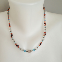 Mixed beads necklace  Beaded necklace