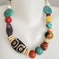 Tibetan Pendant  Turquoise Necklace Statement necklace Boho necklace