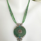 Pendant Necklace, Tibetan Jade pendant necklace, Green necklace