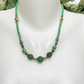 Jade Necklace, Green gold necklace, Ethnic necklace,Tibetan necklace