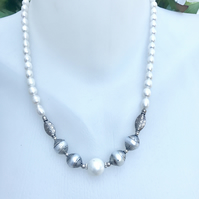 Pearl necklace,   Freshwater pearl Necklace, Shell pearl necklace