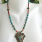 Pendant necklace,  Tibetan necklace,  Turquoise Necklace, Vintage Turquoise bead