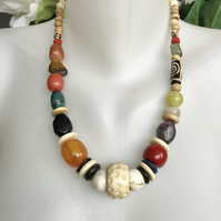 Chunky beads necklace,Statement necklace,Vintage beads necklace,Ethnic jewellery